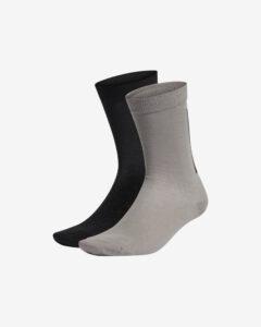 adidas Originals Ponožky 2 páry Čierna Šedá