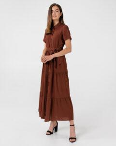 Vero Moda Oksana Dolca Šaty Červená Hnedá