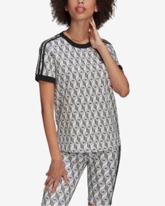 adidas Originals 3-Stripes Tričko Čierna Biela
