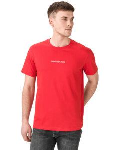 Calvin Klein Instit Chest Tričko Červená