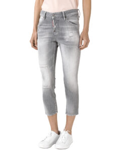 DSQUARED2 Cool Girl Jeans Šedá