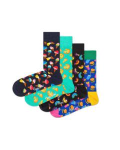 Happy Socks Junkfood Ponožky 4 páry Viacfarebná