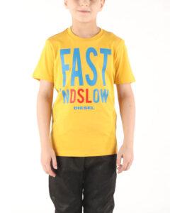 Diesel Trace Tričko detské Žltá