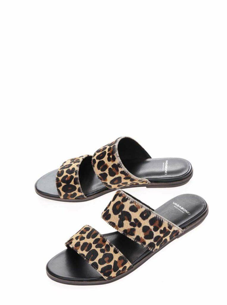Nízke papuče s leopardím vzorom