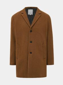 Hnedý vlnený kabát Lindbergh
