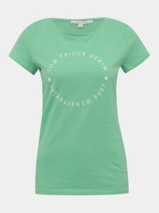 Zelené dámske tričko s potlačou Tom Tailor Denim