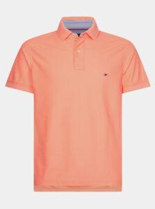 Oranžová pánska basic polokošeľa Tommy Hilfiger