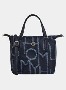 Tmavomodrá vzorovaná kabelka Tommy Hilfiger