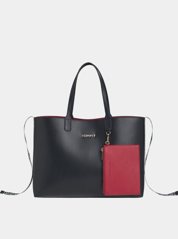 Čierna kabelka s púzdrom Tommy Hilfiger