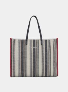 Béžová pruhovaná taška Tommy Hilfiger