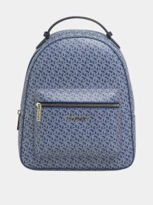 Modrý dámsky vzorovaný batoh Tommy Hilfiger Iconic