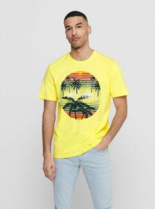 Žlté tričko ONLY & SONS Kuba
