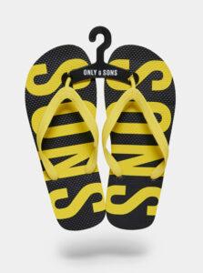 Čierno-žlté žabky ONLY & SONS
