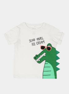 Biele chlapčenské tričko s potlačou name it Zanimo