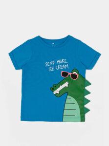 Modré chlapčenské tričko s potlačou name it Zanimo