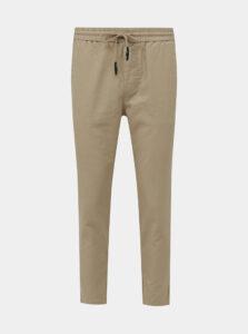 Béžové ľanové nohavice ONLY & SONS Linus