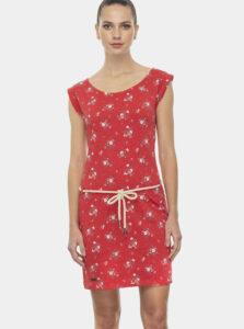 Červené kvetované šaty Ragwear Tamy