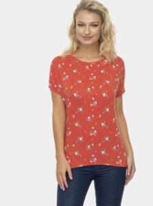 Červené dámske kvetované tričko Ragwear Pecori