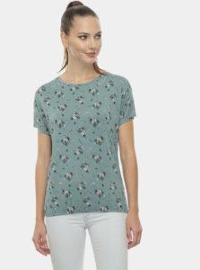 Modré dámske kvetované tričko Ragwear Pecori