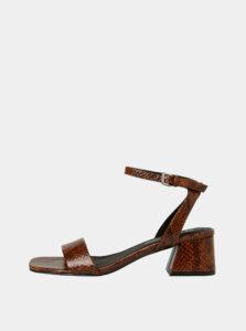 Hnedé sandálky s hadím vzorom VERO MODA Liza