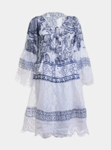Modro-biele vzorované šaty Ble
