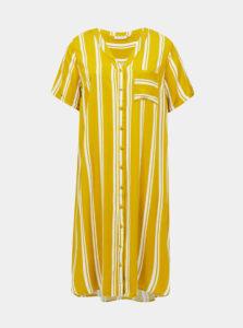 Žlté pruhované šaty ONLY CARMAKOMA Denizia