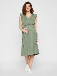 Zelené tehotenské šaty Mama.licious Milla
