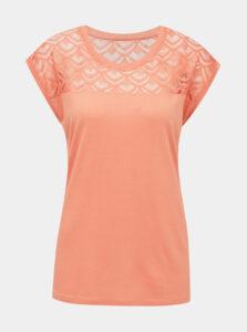 Ružové tričko ONLY CARMAKOMA Flake