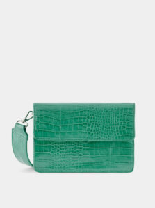 Zelená crossbody kabelka s krokodýlím vzorom Pieces Jally