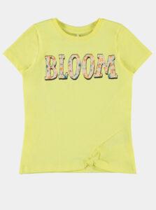 Žlté dievčenské tričko name it