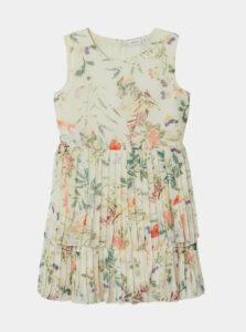 Krémové dievčenské kvetované šaty name it