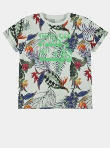 Zeleno-krémové chlapčenské tričko name it