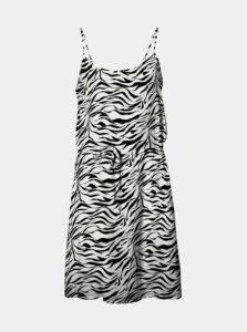 Bielo-čierne šaty so zebrím vzorom VERO MODA Simply