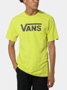 Neonovo žlté pánske tričko s potlačou VANS