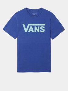 Modré chlapčenské tričko s potlačou VANS