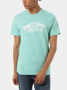 Tyrkysové pánske tričko s potlačou VANS