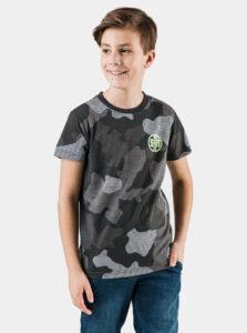 Kaki chlapčenské maskáčové tričko SAM 73