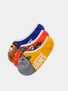 Sada troch párov detských ponožiek v žltej a modrej farbe VANS