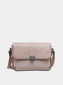 Staroružová crossbody kabelka s hadím vzorom Bessie London
