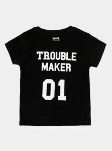 Čierne detské tričko s potlačou na chrbte ZOOT Troublemaker