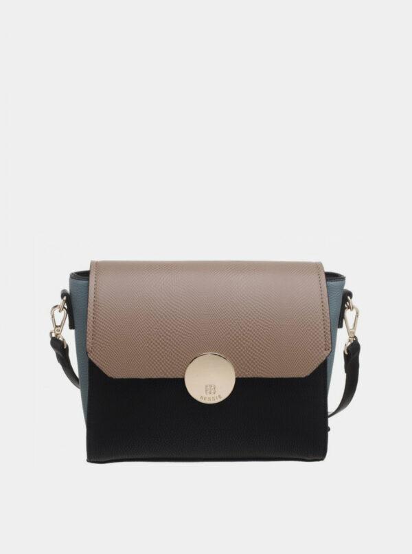 Hnedo-čierna kabelka Bessie London