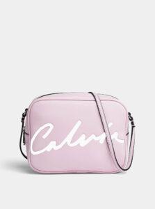 Ružová crossbody taška Calvin Klein Jeans