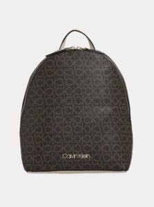 Hnedý dámsky vzorovaný batoh Calvin Klein Jeans