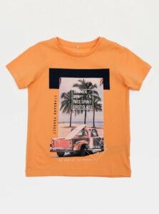 Oranžové chlapčenské tričko name it