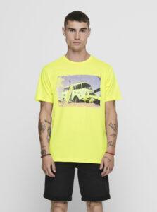 Žlté tričko ONLY & SONS Ilo