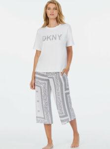 Biele vzorované pyžamo DKNY