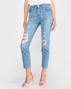 Levi's® 501® Original Cropped Patched Jeans Modrá
