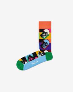 Happy Socks Andy Warhol Skull Ponožky Viacfarebná