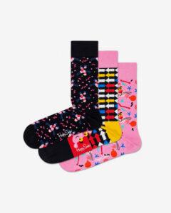 Happy Socks Pink Panther Ponožky 3 páry Čierna Ružová