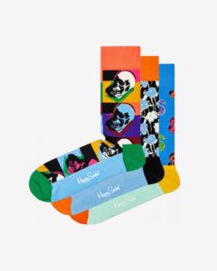 Happy Socks Andy Warhol Ponožky 3 páry Viacfarebná